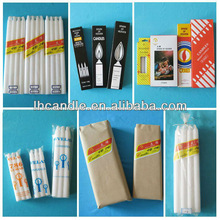 wholesale long burning time various package of church candle