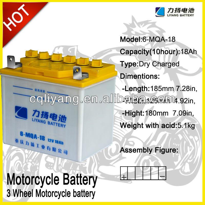 novo design de alta qualidade 150cc 200cc três rodas motocicleta bateria
