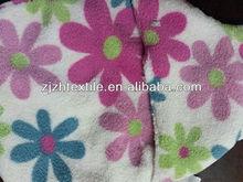 micro coral fleece fabric,big flower style 3D printed coral fleece fabric