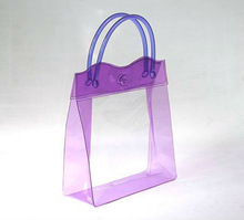 customized pipe handle plastic PVC tote toiletry bag