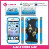 custom design combo case for iphone 5 cute pc+silicone case