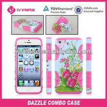 custom cell phone case for iphone 5 hybrid combo case
