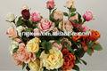 27009m seda artificial casamento rosa flor e tronco único aberto de seda rosa em foshan fábrica fabricante