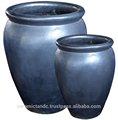 De vidro ao ar livre pote de cerâmica
