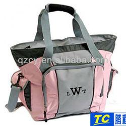 latest pretty in pink personalized sports nylon tote bag