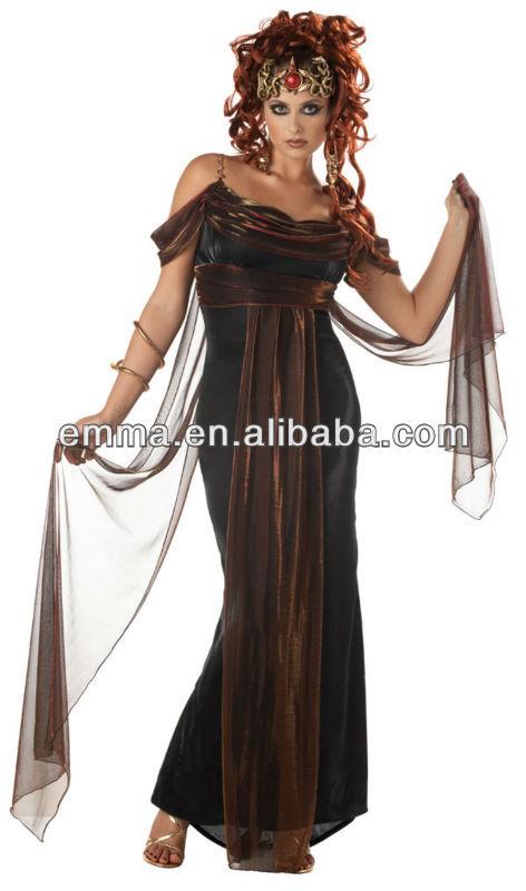 la mujer sexy de medusa mítico traje de las señoras de calidad griego de la antigüedad de disfraces cc335