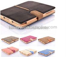 buckle stripe belt suede wallet leather smart case skin for apple new ipad 3 4