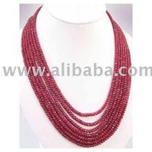 teñidos ruby perlas facetadas