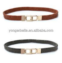 2015 manufactory fashion high quality elastic stretch belt
