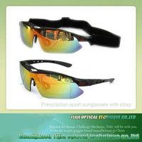 Custom sport sunglasses optical insert with strap