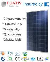 245W poly pv solar panel