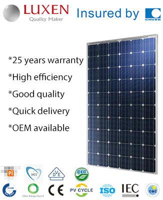 245W mono pv solar panel