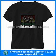 Unique customed men black el sheet t-shirt