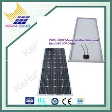 130W 140W 160W Monocrystalline Solar panel Solar module