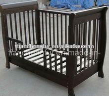 Nursery Children New 3in1 Baby wooden sleigh Cot Toddler bed Sofa White With Mattress