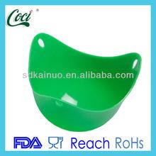 Dishwasher safe heating resistant silicone rubber egg steamer boiled egg mold