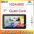 7 inch Super slim tablet android tablet 7 Quad core ATM7029 manufacturer with external 3g ( DM-J728)