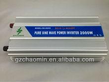 Hot&Decent!! dc12v/24v to ac220v/110v Pure sine wave inverter 2000W frequency inverter