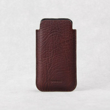 100% italian genuine cow leather for iphone5 case,darkred color cell phone accessories