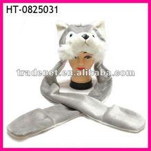 Plush husky animal hats