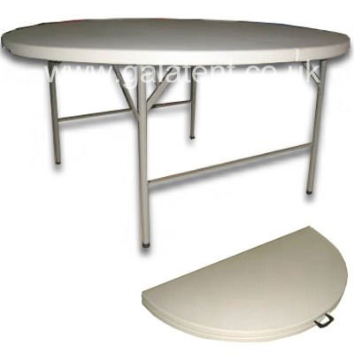5ft Round Folding Trestle Table