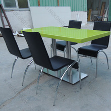 Smooth touch acrylic stone table,acrylic solid surface table top,dining table and chair