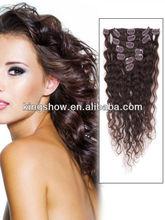 HOT !!! Clip in remy hair bun extension manufacturers better than volumizer glue