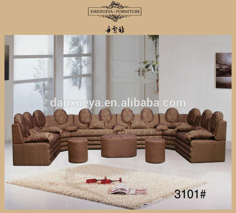 China guangzhou foshan woonkamer meubels arabische u vorm stoffen hoekbank woonkamer sofa - Meubilair loungeeetkamer ...