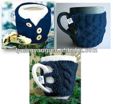 ZKYT# ceramic coffee mug with clothes,porcelain drinking mug