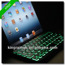 hot sale AAA class LED back-lit hotsale bluetooth keyboard case for ipad mini from OEM ODM factory