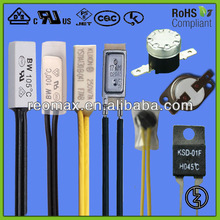 bimetal temperature switch -Applied to motor,ballast, transformer, electronic equipment, home appliance