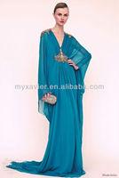 2015 women summer royal blue dubai very fancy beaded abaya jalabiya kaftan dress, ladies maxi dress