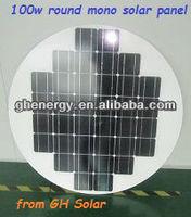 100w round monocrystalline solar panel