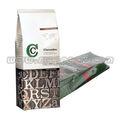 pie ziplock mylar válvula de la bolsa de embalaje para el café bolsa con válvula