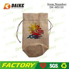 Personalized Hot Eco Jute Handmade Drawstring Laundry Bag DK-MS120