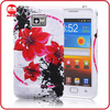 Hot Sale Stylish Red Flower Series Custom Silicone TPU Case for Samsung Galaxy S2