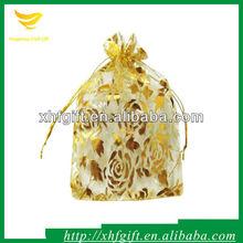 Snow Yarn Bags Flower Print Organza