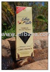 Vanilla Pods (10) Label Premium blistered 100% Made in Mauritius