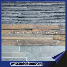 Natural culture stone black slate masonry wall tile