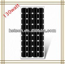 competitive price 130w monocrystalline pv solar panel