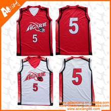 Unisex Reversible Basketball Uniform For Team With Heat Sublimation