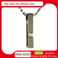 black titanium diamond pendant birthstone necklace clip pendant