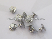 Orthodontic bondable lingual button, Mesh Base of TOMY type