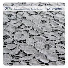 Cy-lw0597 estoque tecido verde e cor laranja Floral algodão cortinas de tecido de renda