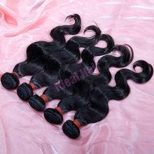 Fast shipping factory 100% pure virgin brazilian hair tracks