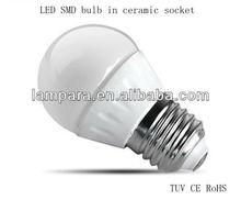 AC85V-AC265V Hot sale Most cost-effectivewarm white/cool white/pure white E27/B22 rgb led bulb auto