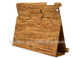 Smart Like Wood Luxury PU Leather Case For ipad 2 Ipad 3 Ipad 4
