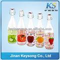 El amor y la salud de la venta caliente de vidrio de color jugo/cerveza/vino tarros mason para la venta ks-jp015