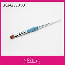 BQAN Double Color Wooden Handle Flat Hair Nail Art Painting Pen