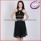 net frock design black chiffon dress for women YD-SP8420